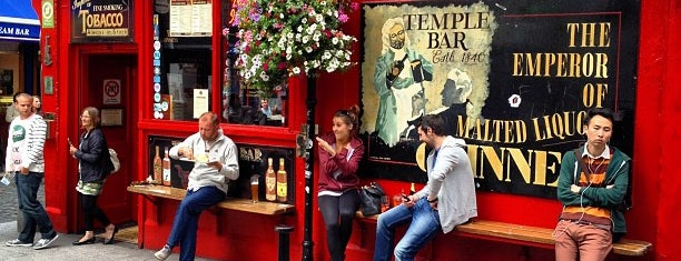 The Temple Bar is one of The Ultimate Guide to Dublin.
