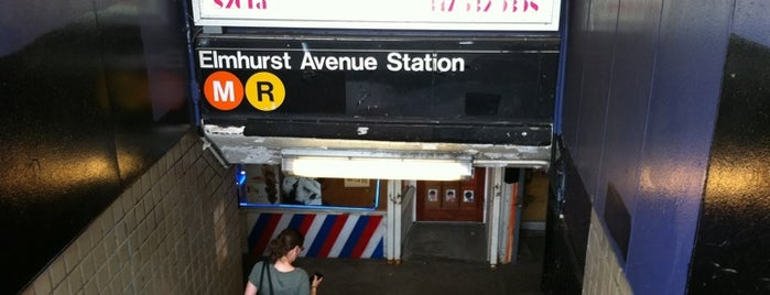 MTA Subway - Elmhurst Ave (M/R) is one of สถานที่ที่ Alberto J S ถูกใจ.