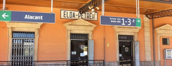 Estación de Elda-Petrer is one of Ciudad-Real – Alicante.