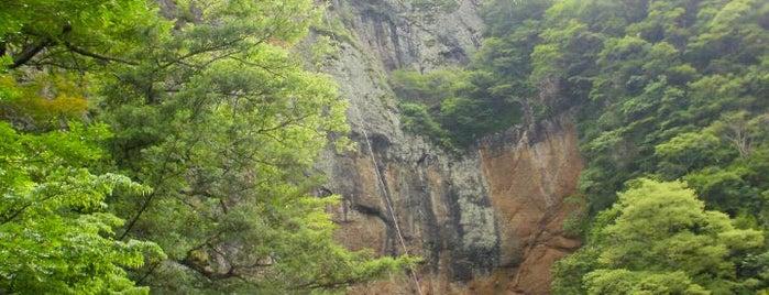 屏風岩 is one of 茨城県北ジオパークのジオサイト.