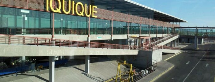 Aeropuerto Internacional Diego Aracena (IQQ) is one of Locais curtidos por Ely.