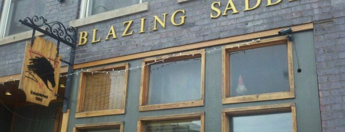 The Blazing Saddle is one of Gay Places.
