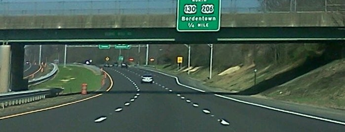 Interstate 295 at Exit 40 is one of New Jersey highways and crossings.