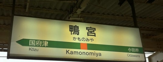 Kamonomiya Station is one of JR 미나미간토지방역 (JR 南関東地方の駅).