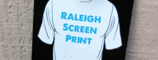 Raleigh Screen Print is one of RDU Baton - Raleigh Favorites.