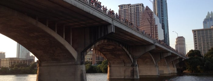 Ann W. Richards Congress Avenue Bridge is one of places to try.