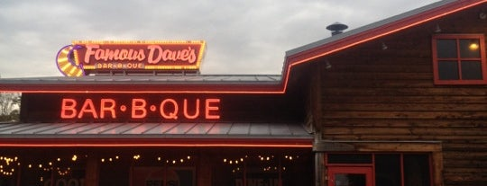 Famous Dave's is one of Scott's Liked Places.