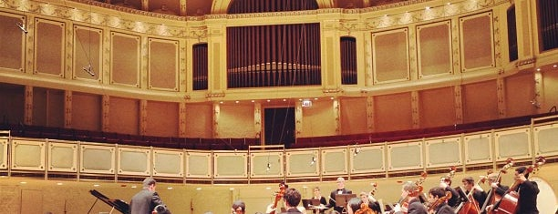Symphony Center (Chicago Symphony Orchestra) is one of Downtown Chicago Theatres.