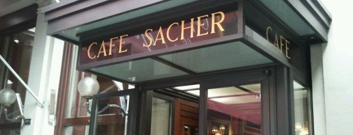 Café Sacher is one of Vienna, Austria - The heart of Europe - #4sqCities.