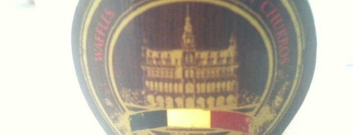 Brussels Waffles Y Churros is one of สถานที่ที่บันทึกไว้ของ Cin.