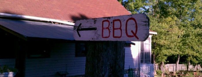 Woodyard BBQ is one of Diners Drive-Ins and Dives & Roadfood.