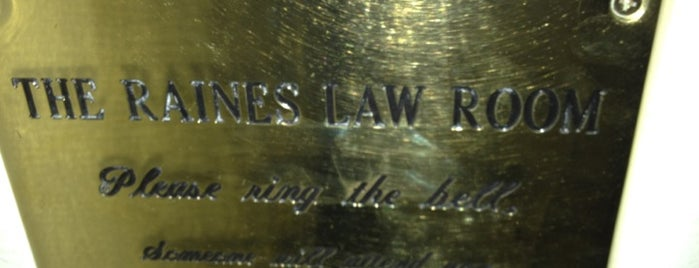 The Raines Law Room is one of New York.
