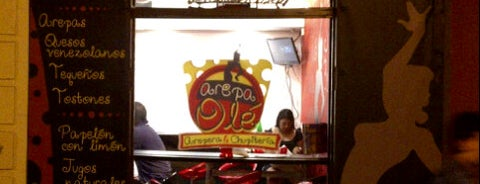 "Arepa Olé ""Chueca"" is one of Zampar en Madrid."