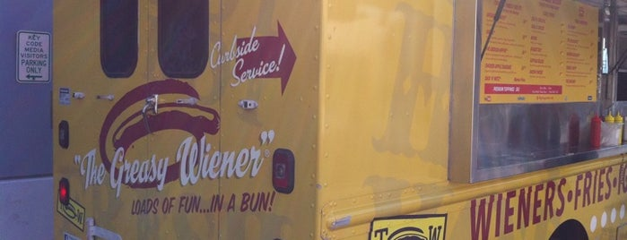 The Greasy Wiener Truck is one of Cali Bound.