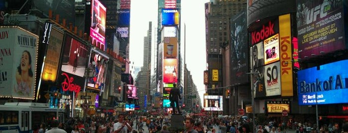 Times Square is one of Rockefeller Center.