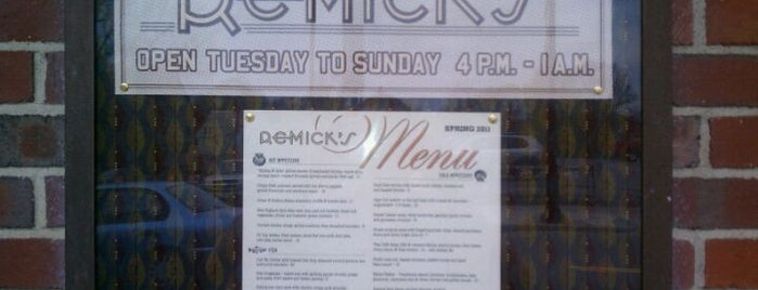 Remick's is one of Best new restaurants 2011.