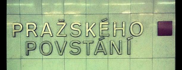 Metro =C= Pražského povstání is one of Locais salvos de Jaromir.