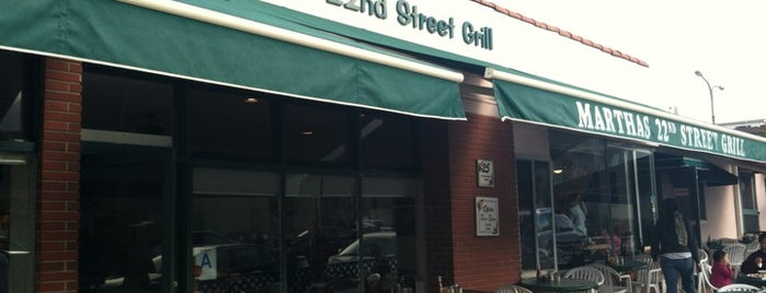 Martha's 22nd Street Grill is one of Hermosa Beach.