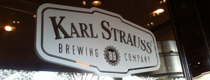 Karl Strauss Brewing Company is one of Beer-Bar-Brew-Breweries-Drinks.