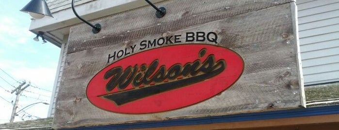 Wilson's Holy Smoke BBQ is one of Diners Drive-Ins and Dives & Roadfood.