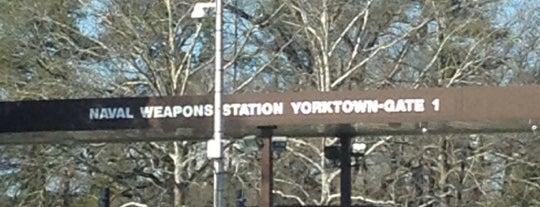 Yorktown Naval Weapons Station is one of Tempat yang Disukai Shawn Ryan.
