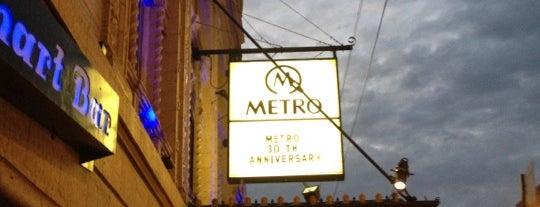 Metro is one of Burgers 'n' Bars in Chicago.