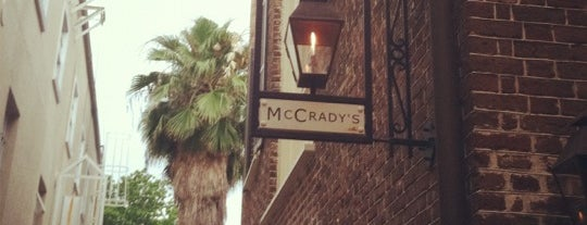 McCrady's is one of Charleston.