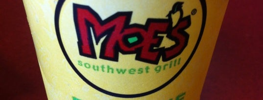 Moe's Southwest Grill is one of Dennis's Liked Places.