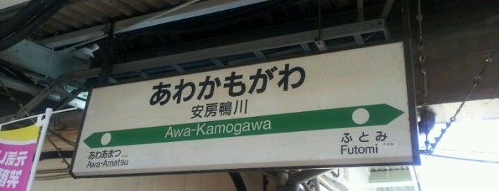 Awa-Kamogawa Station is one of JR 키타칸토지방역 (JR 北関東地方の駅).