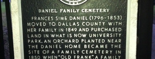 Daniel Family Cemetery is one of Historical Markers.