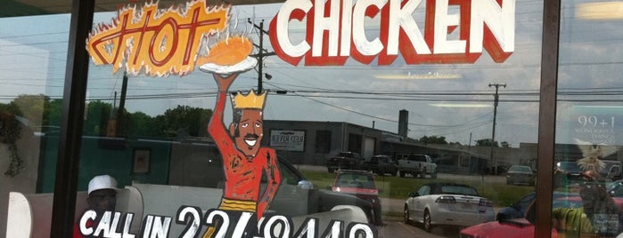 Prince's Hot Chicken Shack is one of Steve's Roadside Dives.