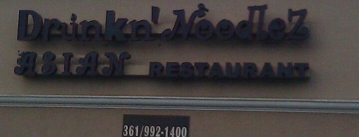 Drunkn'Noodlez Asian Restaurant & Sushi Bar is one of Tempat yang Disukai Catherine.