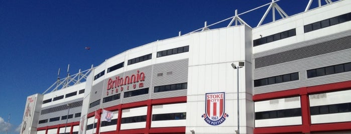 Britannia Stadium is one of Barclays Premier League Grounds & Stadiums 2013/14.