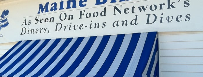 The Maine Diner is one of Diners, Drive-Ins, & Dives.