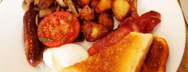 Mess Cafe is one of Breakfast/Brunch in London.