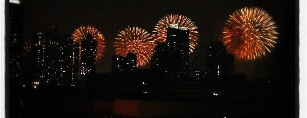 Fireworks On The Hudson is one of Tempat yang Disukai Jasmine.