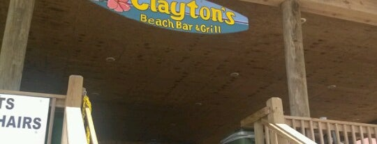 Clayton's Beach Bar And Grill is one of SPI - Spring Break South Padre Island.