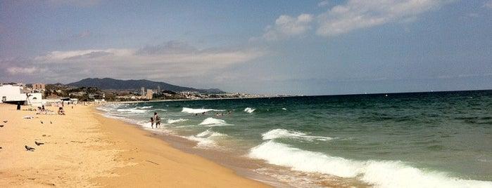 Platja de l'Estació is one of Playas de España: Cataluña.