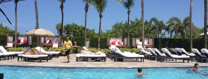 Poolside at Hilton Bentley is one of Miami.