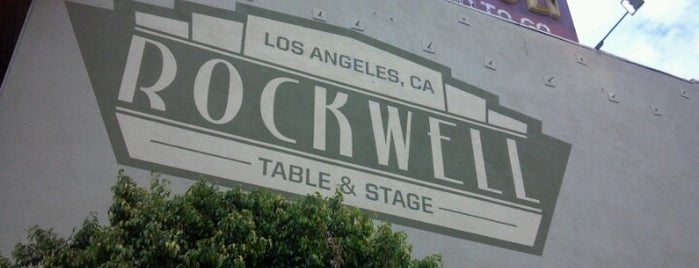 Rockwell Table and Stage is one of Dranks.