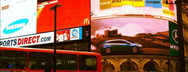Piccadilly Circus (D) is one of london.
