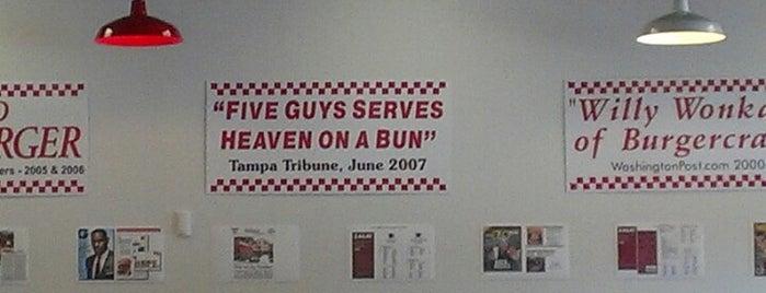 Five Guys is one of Locais curtidos por Tyler.