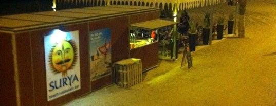 Surya Beach Restaurant Bar is one of chiringuitos playa barcelona.