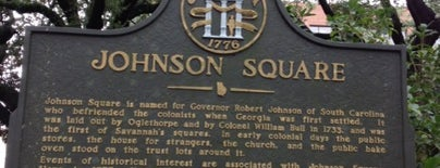 Johnson Square is one of Outdoors in Savannah.