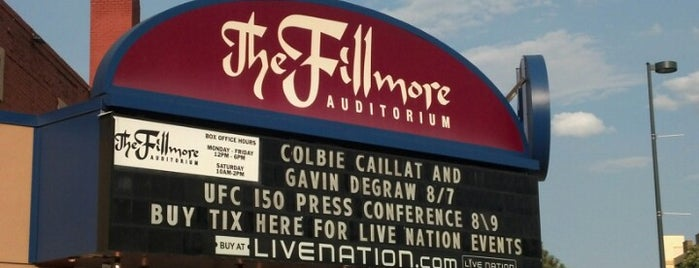 Fillmore Auditorium is one of Denver-To-Do List.