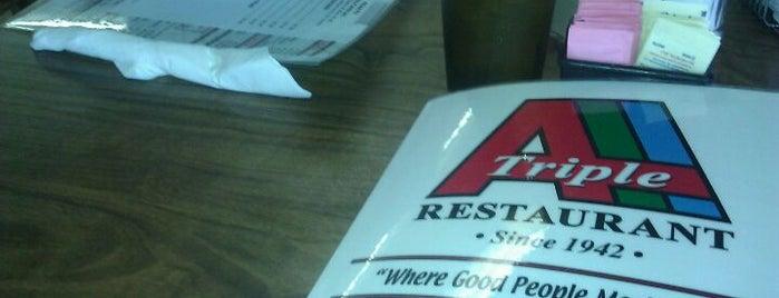 Triple A Restaurant is one of สถานที่ที่บันทึกไว้ของ Andres.