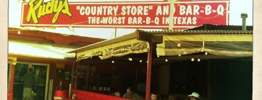 Rudy's Country Store & Bar-B-Q is one of San Antonio - Get Full. Have Fun. #visitUS #4sq.