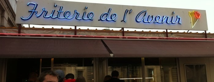 "Friterie de l'Avenir is one of It's not ""French fries"" but ""Belgian Fries"" !."
