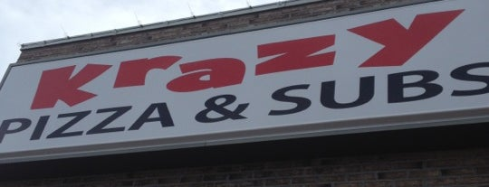 Krazy Pizza, Pasta, Salads and Subs is one of Favorites.