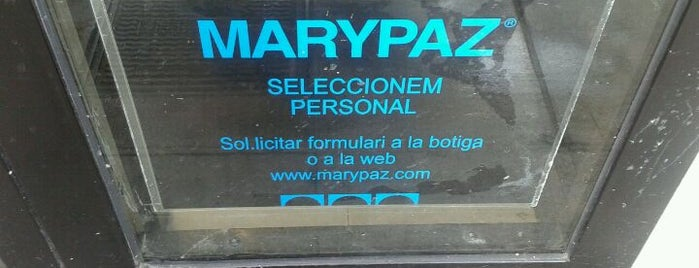 Marypaz is one of Ofertas de Trabajo Comercios Barcelona.